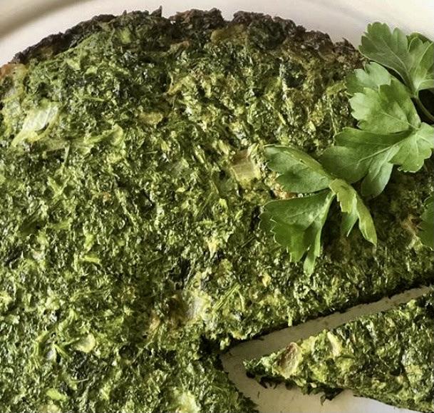 cuisine iranienne avec le koukou sabzi, recette iranienne, entrée iranienne