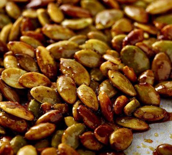 graine de courge grillée au four assaisonnée